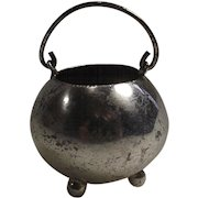 Vintage Silver Cauldron for Your Doll House