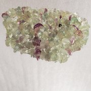 Vintage Tumbled Green Prasiolite and Purple Amethyst Necklace