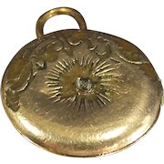 Vintage Religious Locket With Fold Out Relic Inside Gold Filled