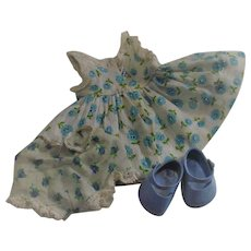 Vintage Vogue Ginny Doll Dress with Shoes and Panties