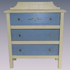 Vintage 1920's Wooden Painted Doll Dresser