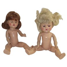 Vintage Two Vogue Ginny Dolls Blond and Brunette