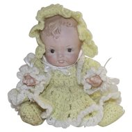 Vintage Baby Doll Bisque Artist Hand Made 1980's