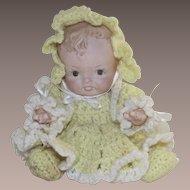 Vintage Baby Doll Bisque Artist Hand Made 1980's