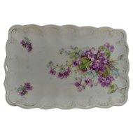 Vintage Violets and Forget me Nots Dresser Tray