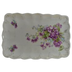 Vintage Violets and Forget me Nots Dresser Tray