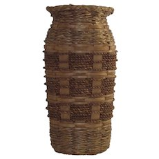 Sweet Grass Basket Vase with Glass Liner