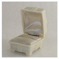 Vintage Celluloid Mid Century Era Ring Box