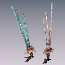 Vintage Mercury Glass Clip on Candles For a Christmas Tree