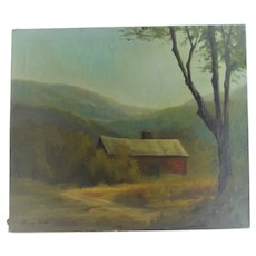 Sunday Afternoon Artist Signed Easton Valley of New Hampshire Old Red Barn