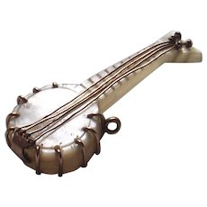 Vintage Mother of Pearl Banjo Charm Fob