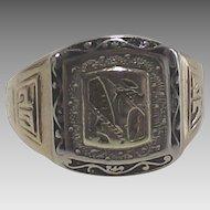 Vintage 1927 Ten Kt Gold Signet Ring