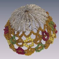 Vintage Small Beaded Clip on Lamp Shade