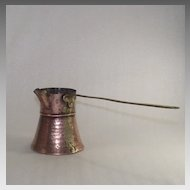 Vintage Copper Cezve or Briki Pitcher Hand Hammered  also Perfect for Butter and Syrup