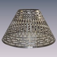 Vintage Silver Fret Work Candle Stick Shade
