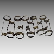 Vintage Brass Clip On Candle Stick Shade Fixtures