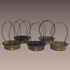 Vintage Brass Electric Lamp Shade Clip on Frames