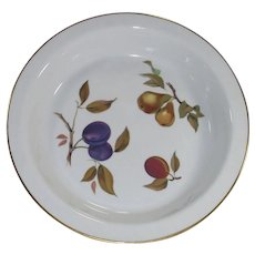 Vintage Royal Worcester Evesham Pie Baking Dish Pie Plate