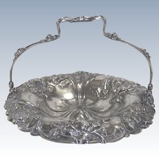Pairpoint Silver Plate Basket with Roses