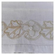 Arts and Crafts Linen Embroidered Table Cloth