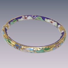 Vintage Child's Cloisonné Bangle Bracelet