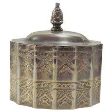 Vintage 1990's Silver Plate Jewelry Casket