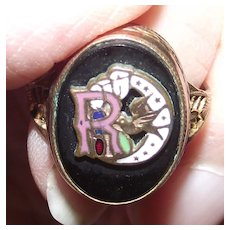 Vintage Gold Filled Ring Daughters of Rebekah