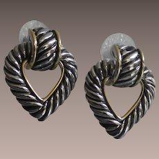 Vintage Heart Shape Door Knocker Earrings