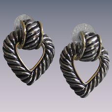 Vintage Heart Shape Door Knocker Earrings