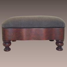 Victorian Ladies Footstool with Bombay Style Sides