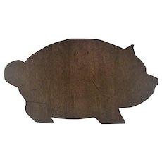 Vintage Wooden Pig Cutting Board