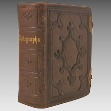 Antique Aesthetic Movement Leather Photograph Album