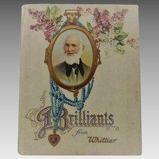 Antique Brilliants from Whittier Book Poetry Circa 1900