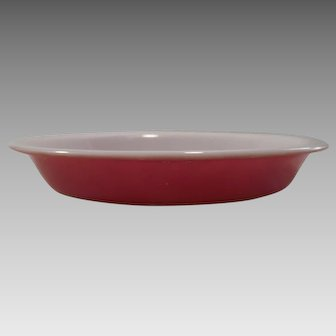 "Vintage PYREX Flamingo Pink Pie Plate 8 1/2"" Round #209"