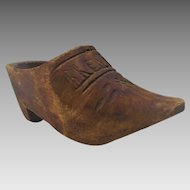 Vintage Dutch Wooden Shoe Thimble Holder