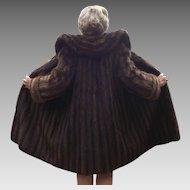 Ladies Sable Coat Mid Century Mahogany Size M