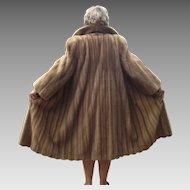 Vintage 1980s Full Length Blond Mink Coat