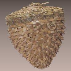 Victorian New England Abenaki Acorn Basket