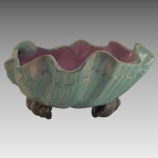 Victorian Majolica English Holdcroft Shell Bowl circa 1880's
