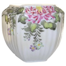 Melon Shaped Nicely Hand Painted Floral Vase