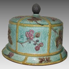 Majolica Blackberry Cake Dish with Dome