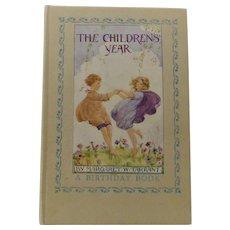 Vintage 1960s Birthday Book – The Childrens' Year - Margaret W. Tarrant