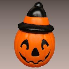 Vintage Halloween Empire Plastic Blow Mold PUMPKIN JOL with WITCH HAT Light