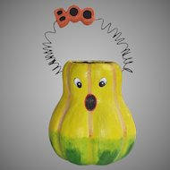 Department 56 Halloween Frightened Boo Gourd Candy Container With Wire Handle