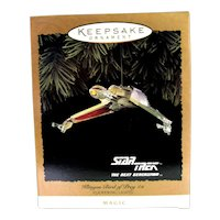 Hallmark Star Trek Klingon Bird of Prey with Flickering Lights 1994