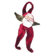 Vintage Paper Faced Chenille Santa Claus Ornament
