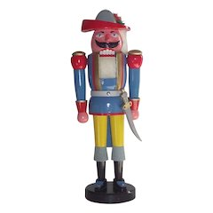 """21"""" Tall German Nutcracker LARGE  Musketeer with Original Box"""