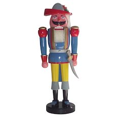 "German Nutcracker LARGE  21"" Tall Musketeer with Original Box."