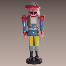 """German Nutcracker LARGE  21"""" Tall Musketeer with Original Box."""