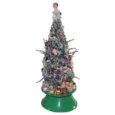 Musical Bottle Brush Christmas Tree HIGHLY Decorated